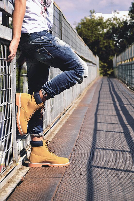 outdoors fashion photography for men's shoes
