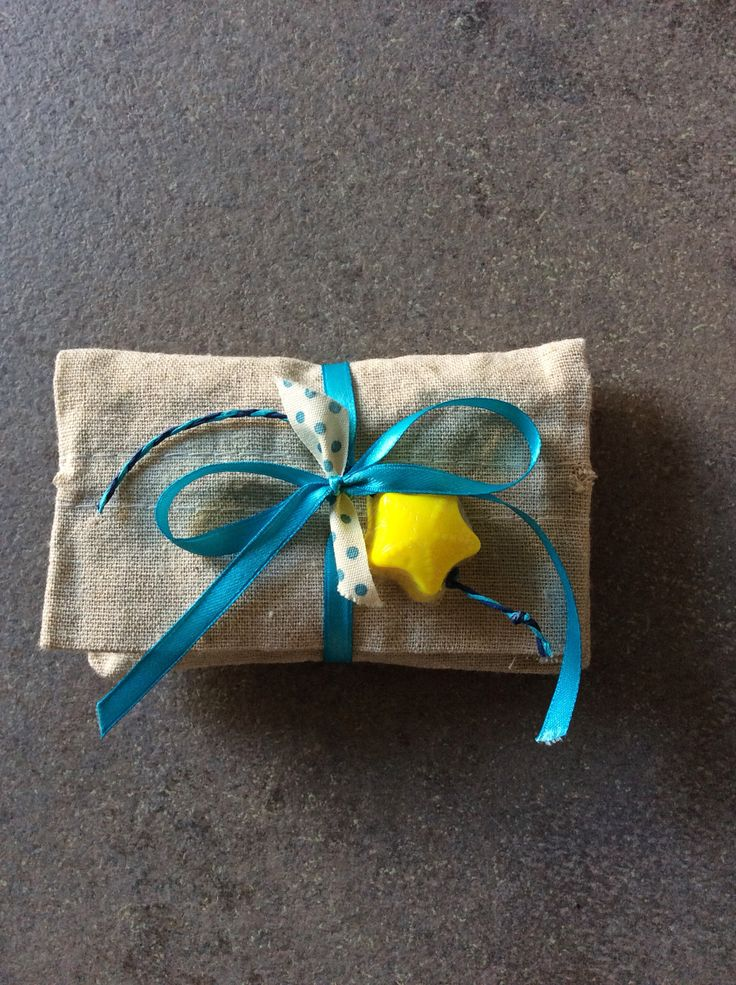 Favors for my little boy's baptism! The star is a handmade soap.