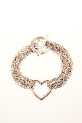 ba1ebaed0 Tiffany & Co Sterling Silver Multi Strand Mesh Heart Toggle Bracelet (eBay  Link)