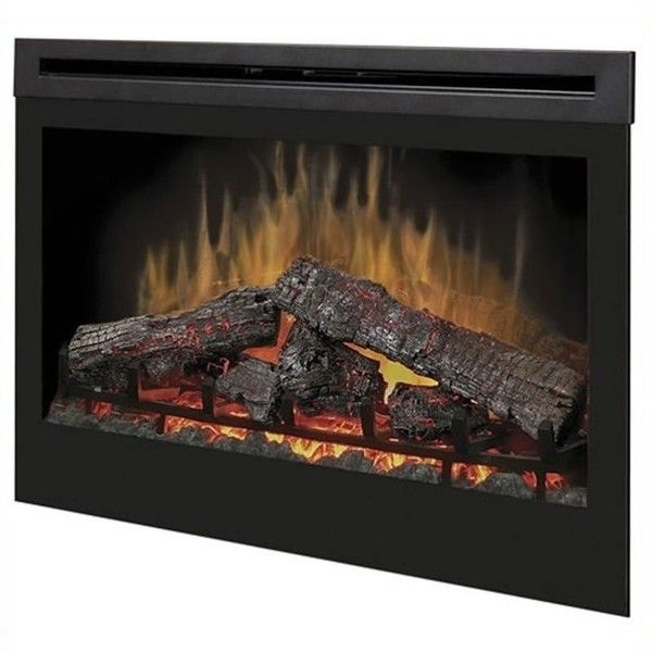 """Dimplex 33"""""""" Self Trimming Electric Insert featuring polyvore home home decor fireplace accessories electric fireplace insert dimplex electric log fireplace insert dimplex fireplace insert electric fireplace accessories"""