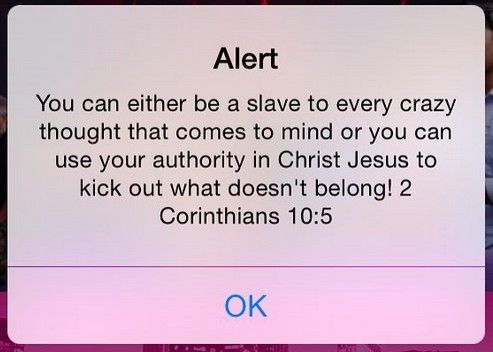 2 Corinthians 10:5 KJV  Casting down imaginations, and every high thing that exalteth itself against the knowledge of God, and bringing into captivity every thought to the obedience of Christ;
