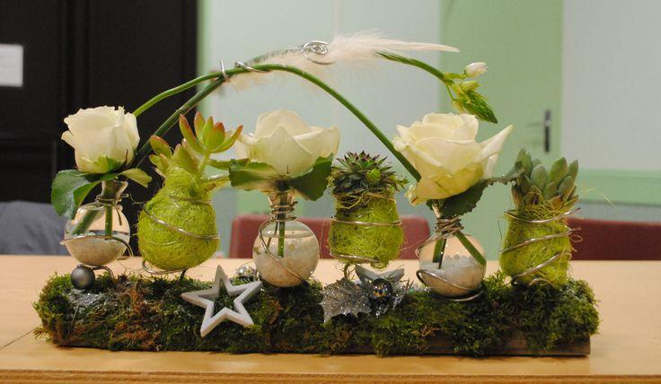 composition florale   Composition florale pour Noël - Le blog de famillesruraleschailland ...