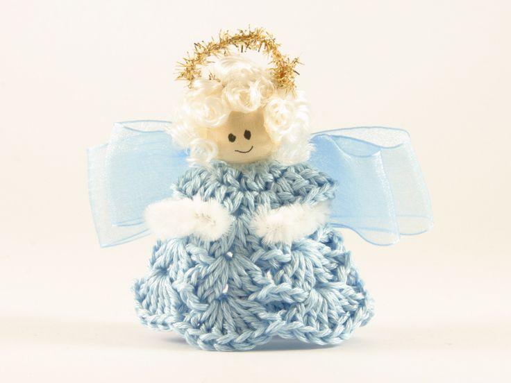 angelo azzurro bomboniera  di Un Cesto di Gomitoli su DaWanda.com