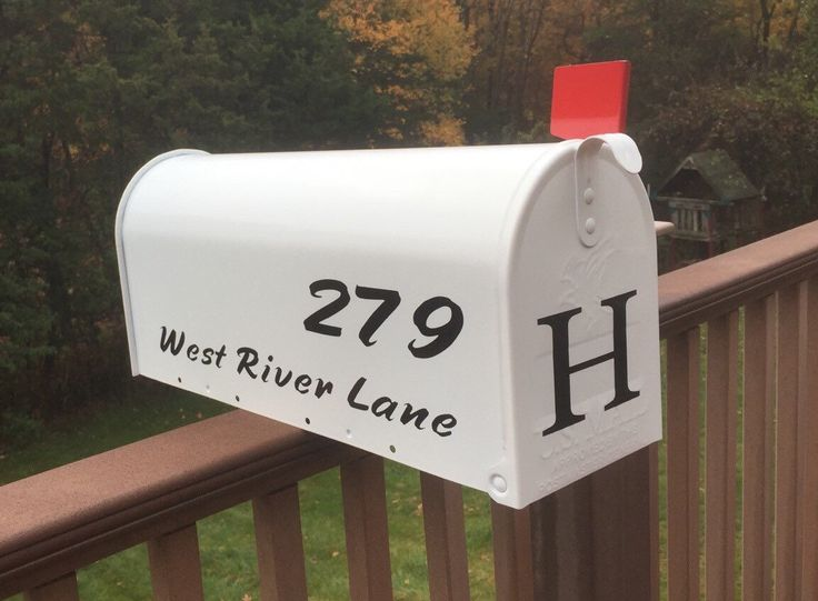 A personal favorite from my Etsy shop https://www.etsy.com/listing/253481338/mailbox-white-mailbox-personalized-with