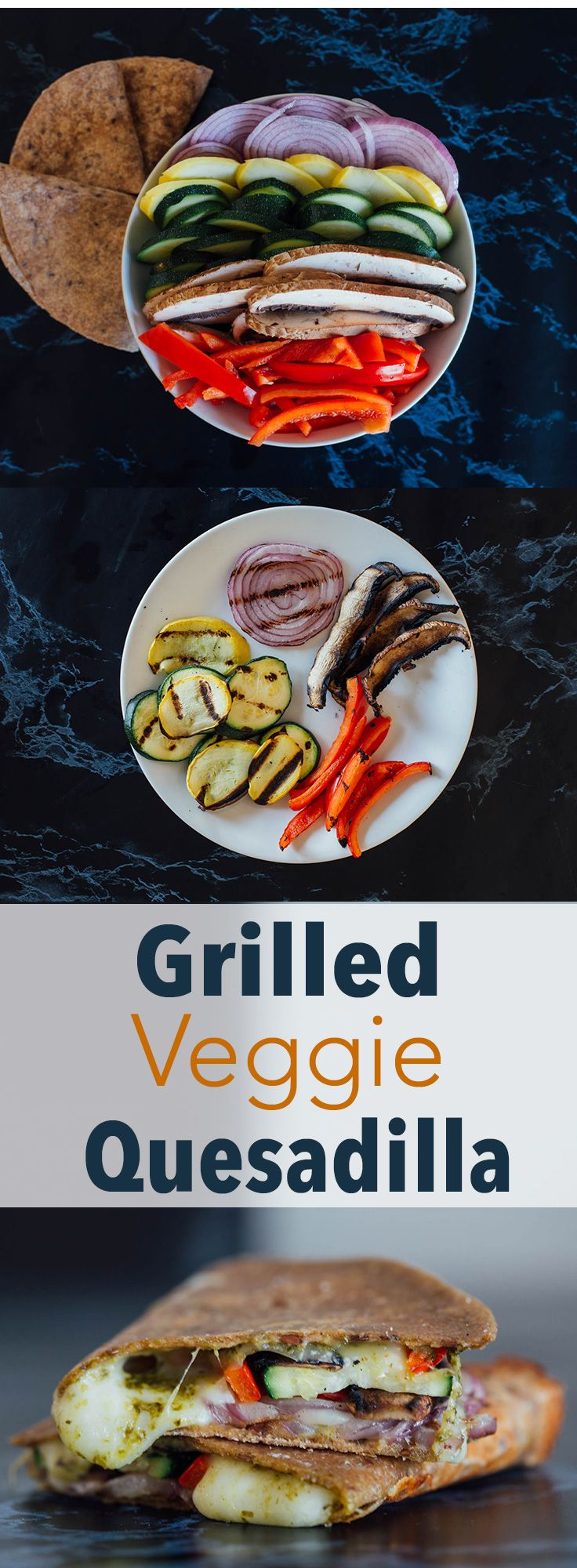 Grilled Veggie Quesadilla -- Indulge in your craving for warm, gooey cheese without wrecking your diet. // recipes // lunches // dinners // healthy recipes // vegetarian // quesadillas // healthy eating // clean eating // beachbody | BeachbodyBlog.com