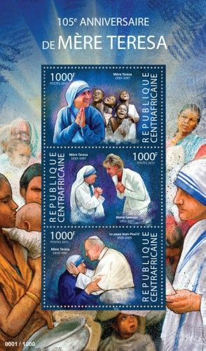 CA15315a 105th anniversary of Mother Teresa (Children, Diana Spencer, Pope John Paul II)