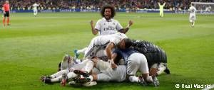 3-2: Another Ramos header in the 92nd minute clinches victory for Real Madrid