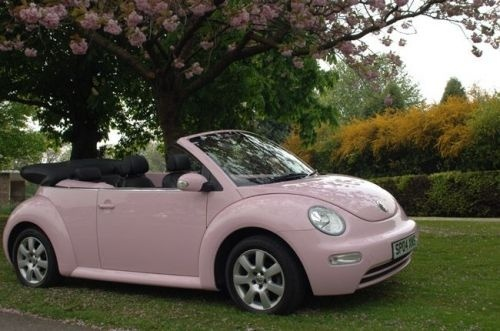 light pink convertible bug i want one pinterest cars. Black Bedroom Furniture Sets. Home Design Ideas