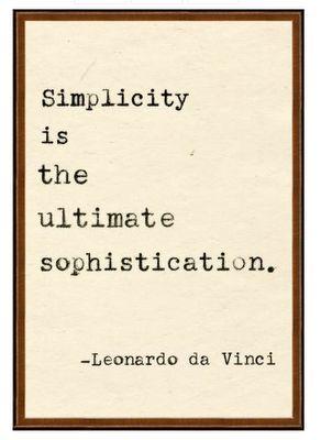 #LeonardoDaVinci simplicity Leonardo da Vinci Simplicity