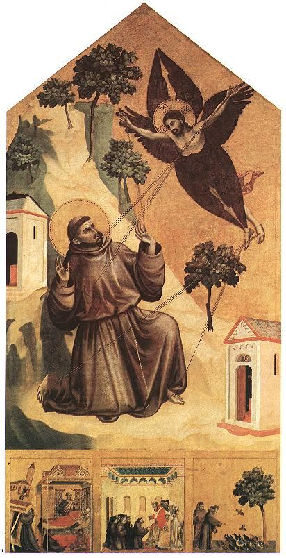 Giotto (1267-1337)  Stigmatization of St Francis