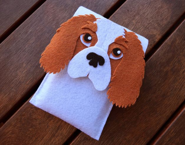 Mobile Phone Case with shape of a Cavalier King Charles Spaniel dog breed made and designed entirely by hand. It is a unique design that impresses everyone who sees it. Items are made to order,...