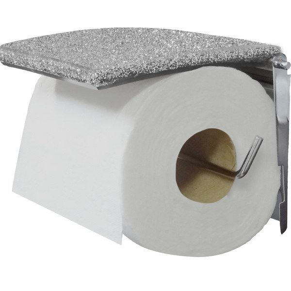 This silver toilet-paper holder makes your OG holder feel mundane. | 39 Products To Add Some Much-Needed Sparkle To Your Life