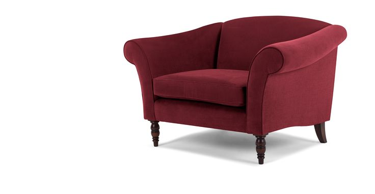Garston Love Seat, Cardinal Red