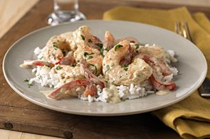 Creamy Pesto-Shrimp & Rice