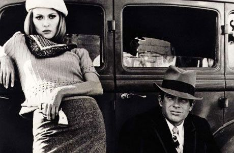 Faye Dunaway and Warren Beattie in Bonnie and Clyde