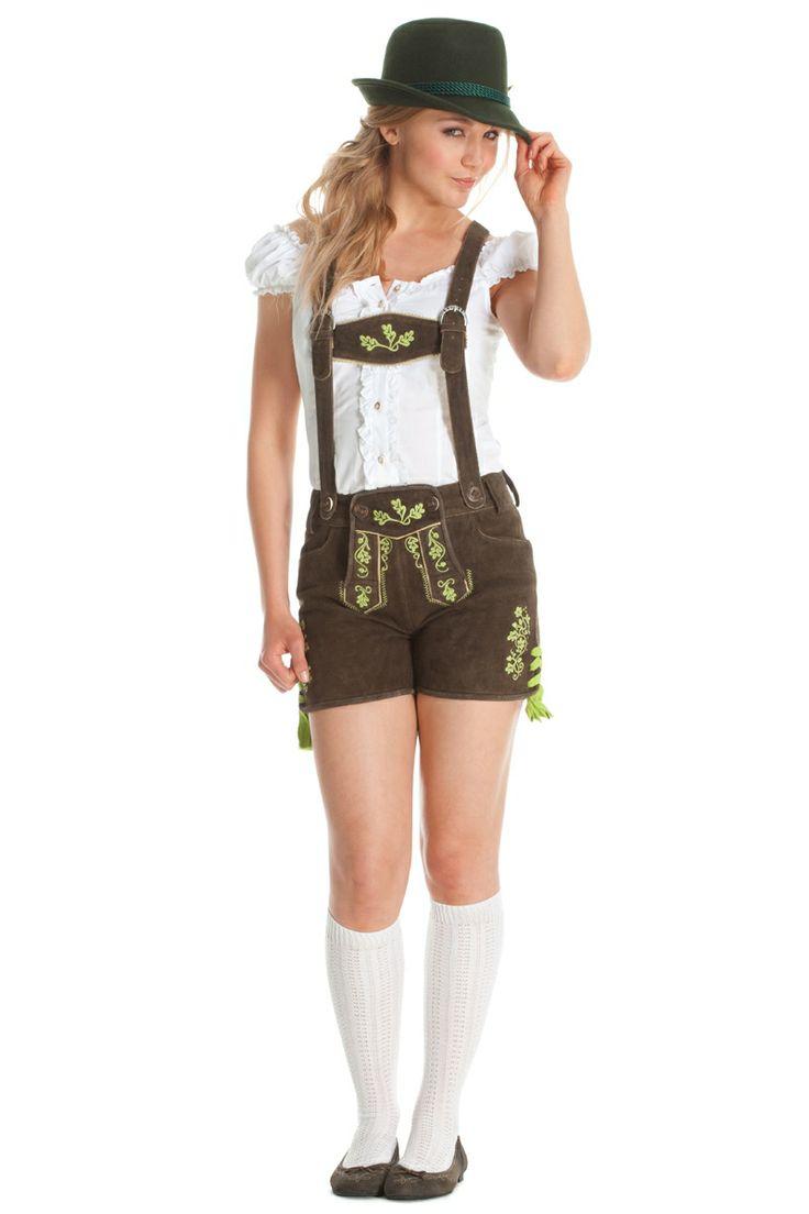 "Leather pants ""Eva"" for women - Tracht for Women - Oktoberfest.de-Shop"