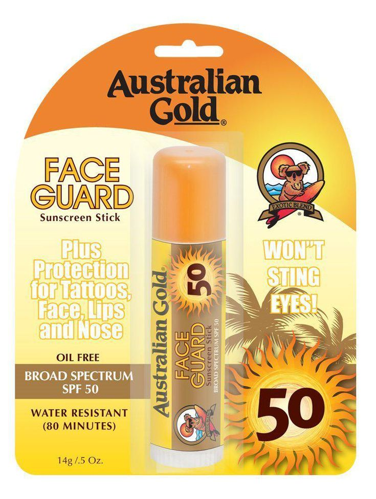 Australian Gold Face Guard Sunscreen Stick. Oil Free, SPF