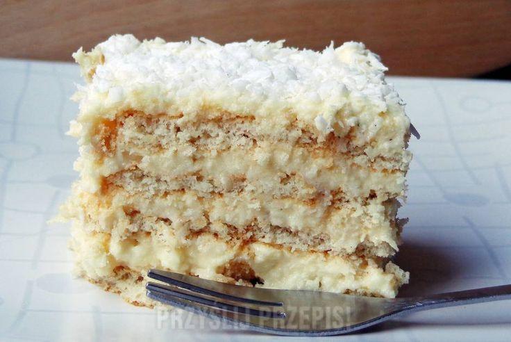 Rafaello - kokosowe ciasto bez pieczenia