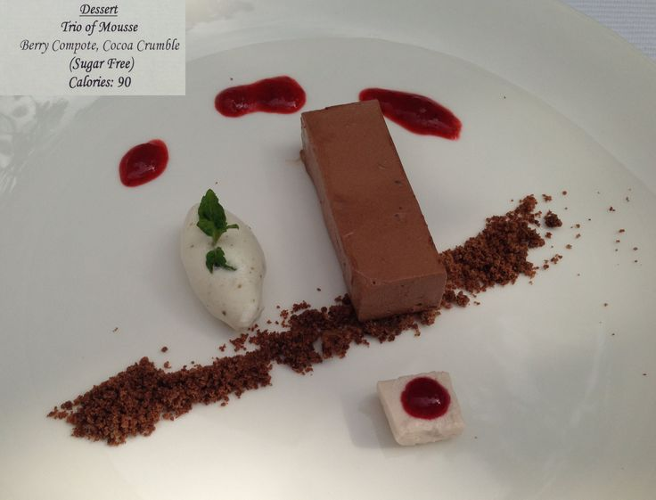 Ananda in the Himalayas - wellness dessert - Trio of Mousse #Ananda #ayurveda #dessert