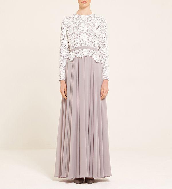 Light Grey Gown With Contrast Lace - £90.90 : Inayah, Islamic Clothing & Fashion, Abayas, Jilbabs, Hijabs, Jalabiyas & Hijab Pins