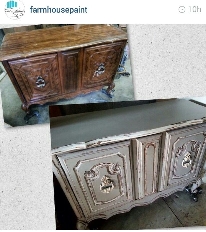 Chest Painted With Gray Limoge, White Ash And Tea Stain Antiquing Gel By  Farmhouse Paint