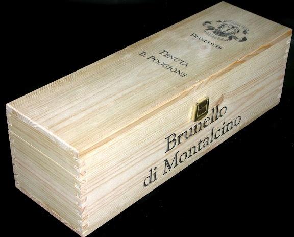 Tenuta Il Poggione single bottle flip-top magnum wine crate
