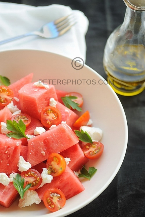 Watermelon SaladWatermelon Salad, Greek Recipe, Feta Salad, Salad Recipe, Summer Salad, Greek Food, Healthy Food, Watermelonsalad, Wonder Watermelon