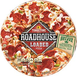 1. Tombstone Roadhouse Loaded Double Down Deluxe Pizza   - Delish.com