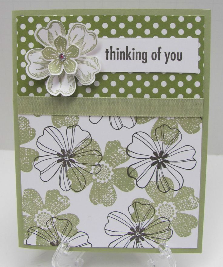 Stampin' Up! THINKING OF YOU Card Kit, Pear Pizzazz Flower Shop - Set of 4 Cards in Card Making   eBay