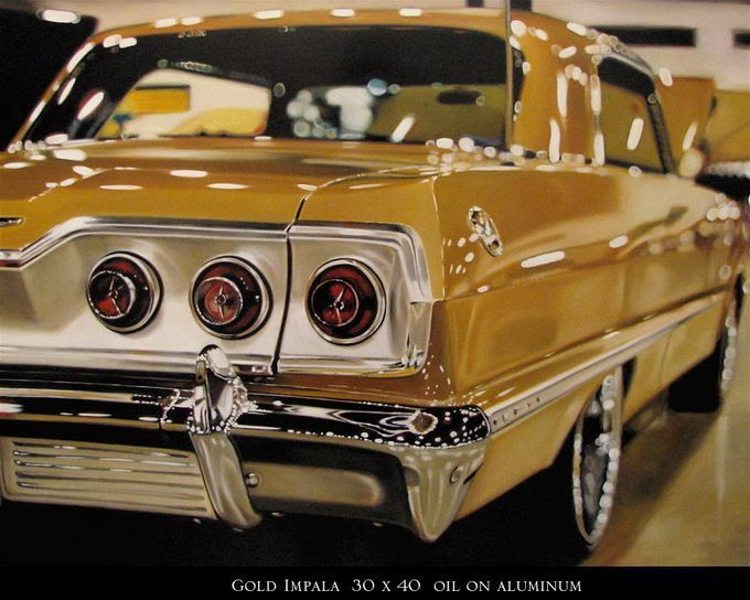 Cheryl Kelley16 Hyper realistic car paintings by Cheryl Kelley