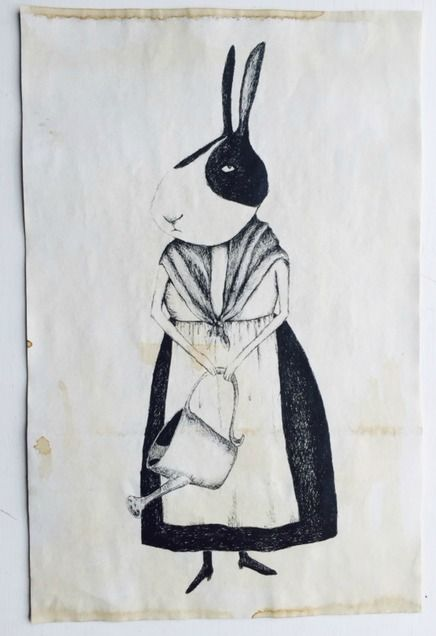 """Mrs.Rabbit Vintage Aged Papers 11"""" x 17"""""""