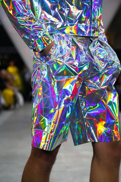 Fyodor Golan Ready To Wear Spring Summer 2015 London, fashion, style, holographic clothes, metallic clothes