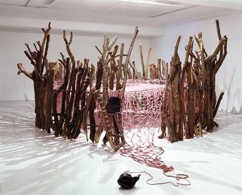 Installation by Nicholas Hlobo, #StandardBank Young Artist 2009 #Visual #Art