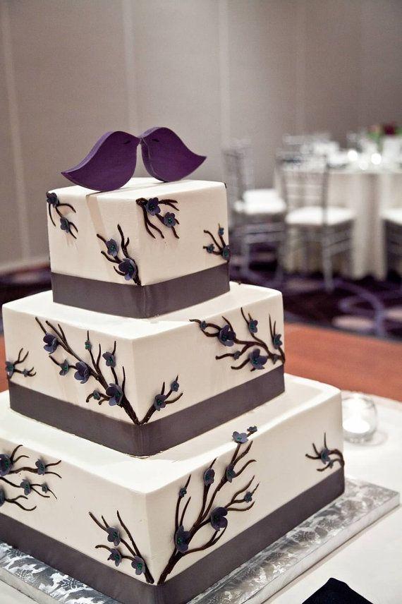 Cake ideas. Wedding cake topper love birds cake topper MANY by sweetshelbys, $13.00