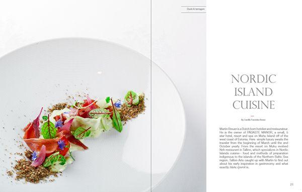 Editorial design - Nordic Island Cuisine on Behance