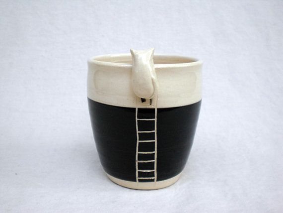 Kitty Cup by KoideStudio on Etsy, $30.00