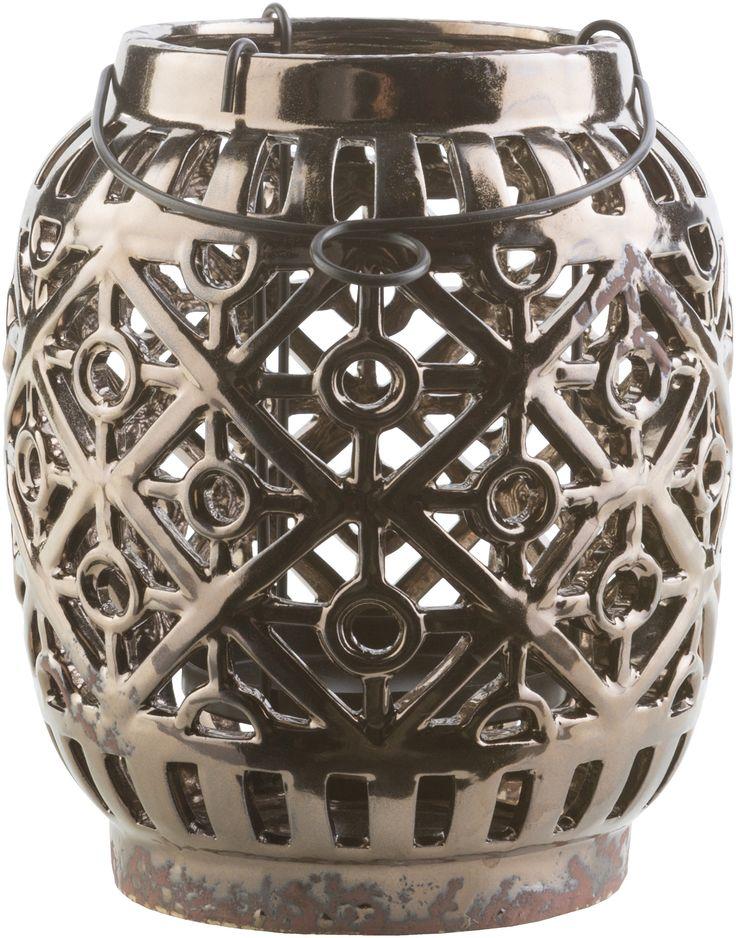 Killian Contemporary Lantern Black, Olive