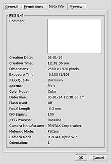 Wikipedia.org/*** Exchangeable Image File Format