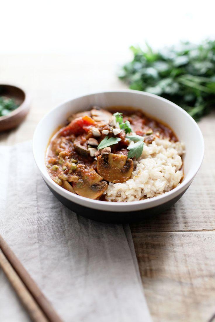Curry de champignons et riz complet (vegan) – AVR