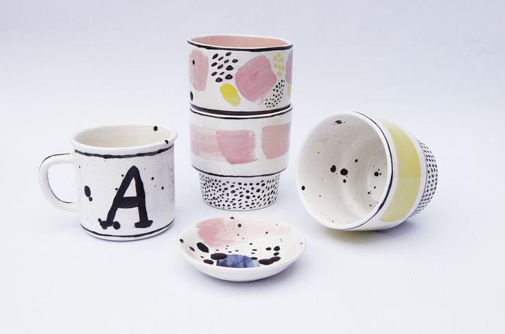 new! ceramic mug, ring dish, succulent planter. www.etsy.com/MinkaInhouse