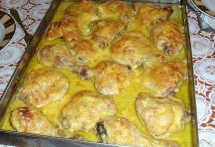 Mustáros-fokhagymás mártásban sült csirkecombok | NOSALTY – receptek képekkel