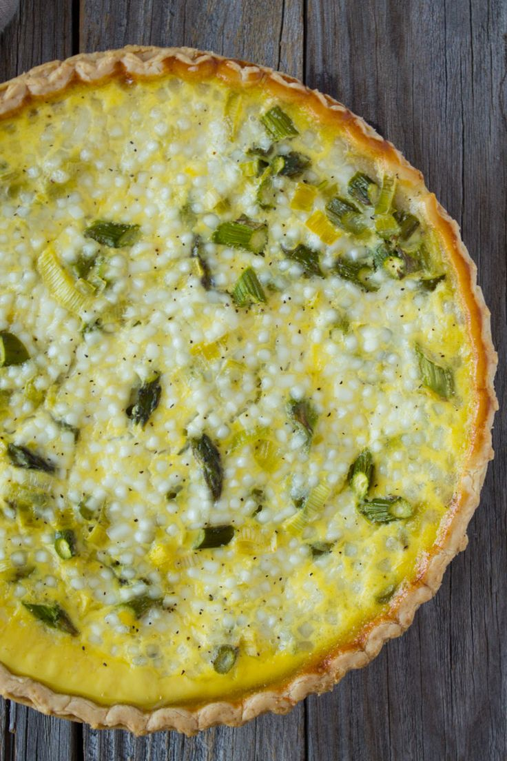 Asparagus and Leek Quiche   @TheFoodieDietitian
