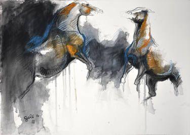 """Saatchi Art Artist Benedicte Gele; Drawing, """"Hierarchy 14"""" #art"""