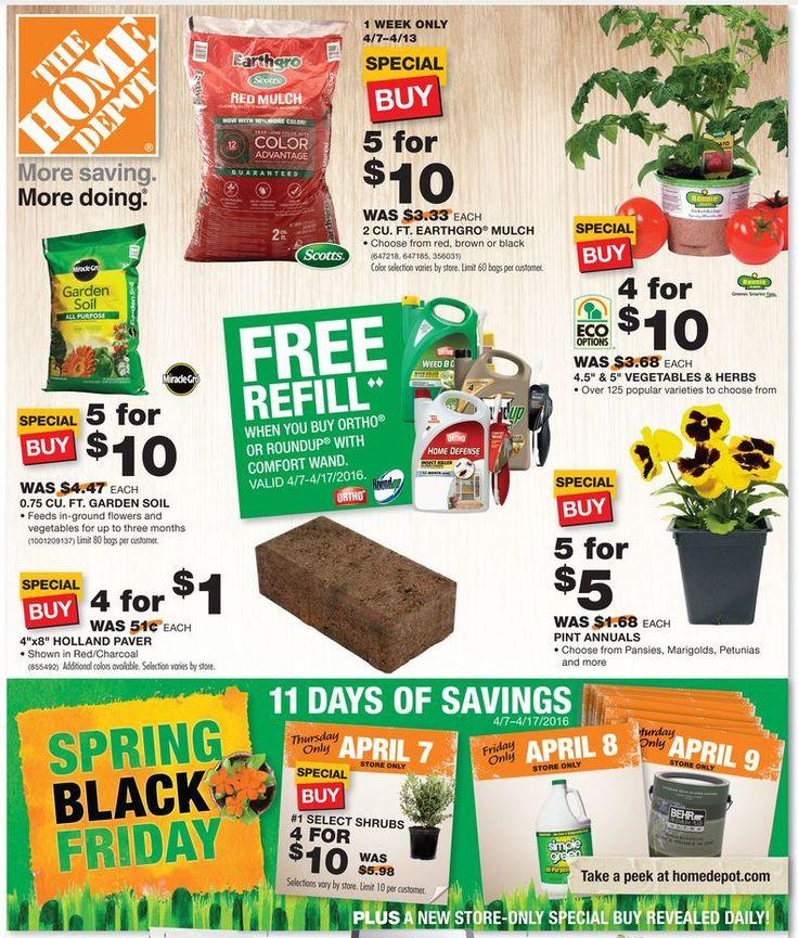 "Home Depot Spring ""Black Friday"" HOT Deals On Mulch"