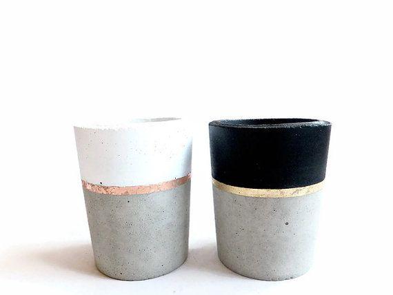 Concrete Pencil Holder Planter for Succulent Grey by BetonDeko