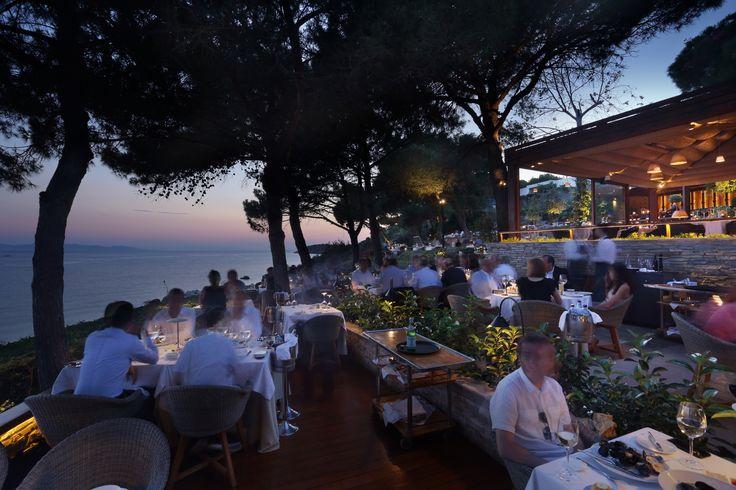 Sunset at Ithaki Restaurant, Athens, Greece
