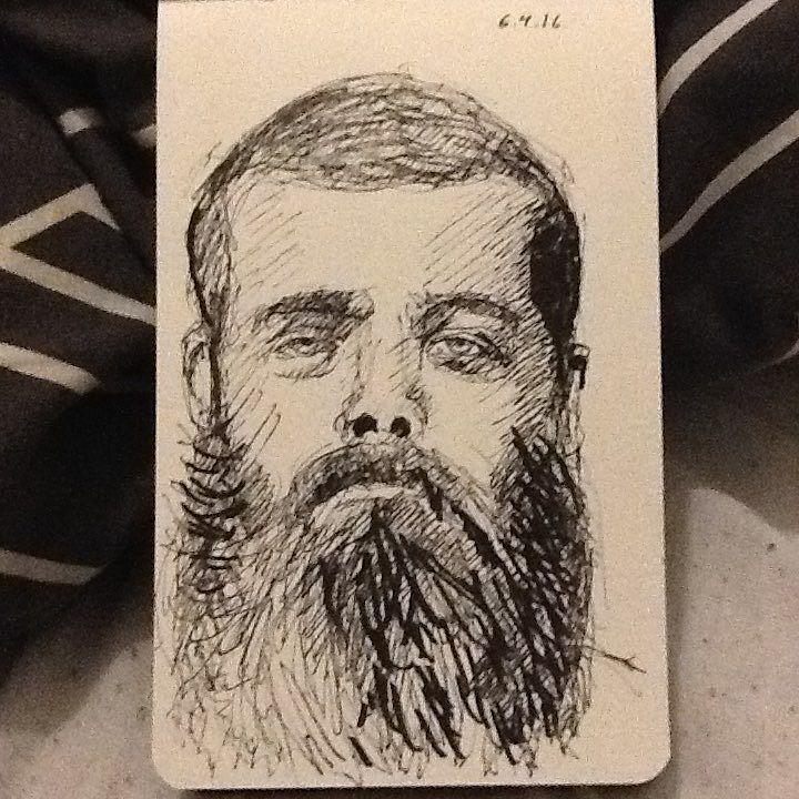 Drawing og a #beardo from #redditgetsdrawn #tw