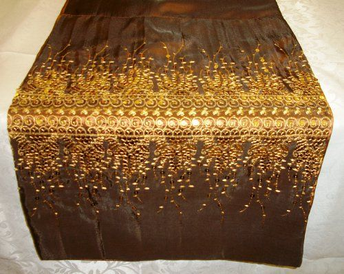 Moroccan Sequin Sparkle Table Runner in Bronze and Gold Supplied by Maple Textiles http://www.amazon.co.uk/dp/B008A5ZP20/ref=cm_sw_r_pi_dp_AlEFub1K6QT4Y