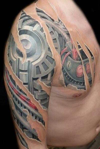 Under the skin ripped skin thru skin tattoos pinterest for Under the skin tattoo