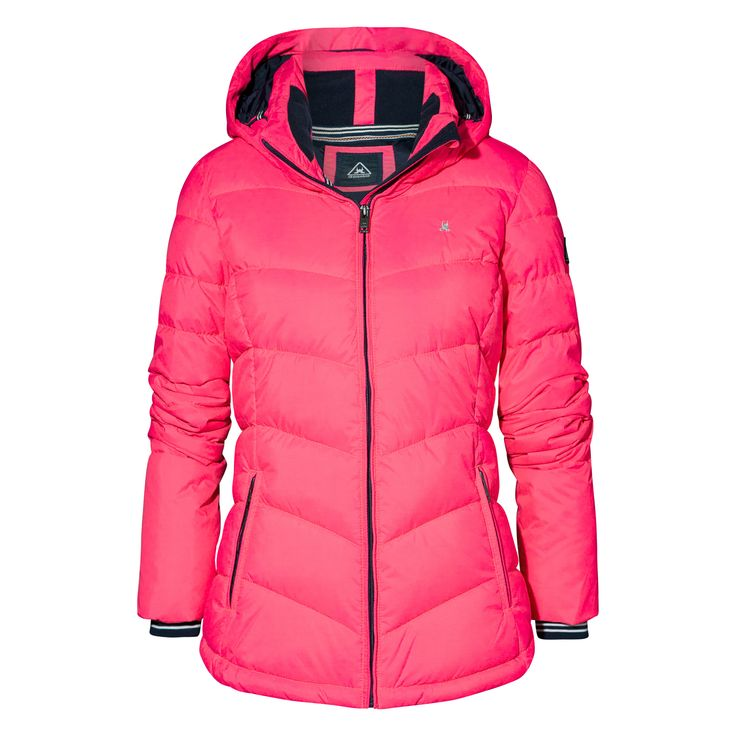 Gaastra Quilted Jacket Davy Jones Neon Pink